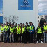 Odborná exkurzia vo výrobnom závode PSL, a.s. – Thyssenkrupp